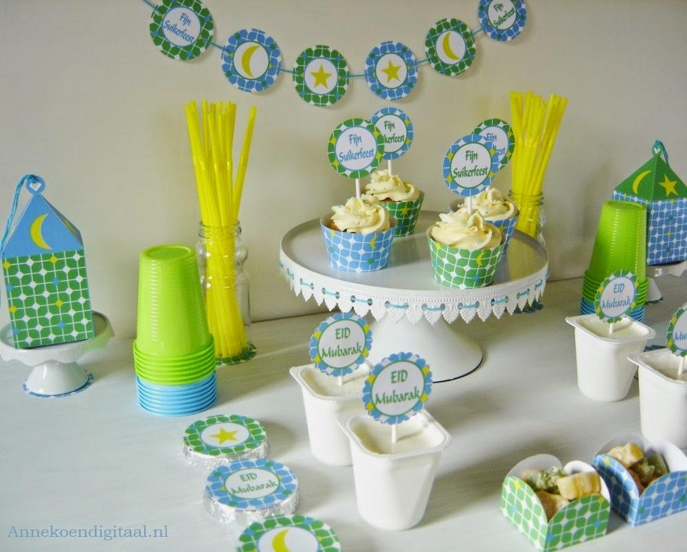 Suikerfeest printables, eid mubarak, ramadan, suikerfeest tafel, eid mubarak printables