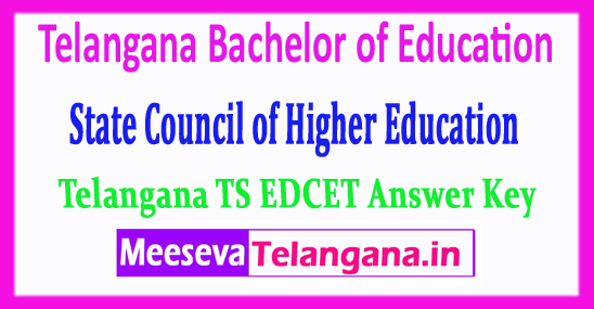 EDCET Telangana Bachelor of Education State Council of Higher Education TS EDCET Answer Key 2018 Download