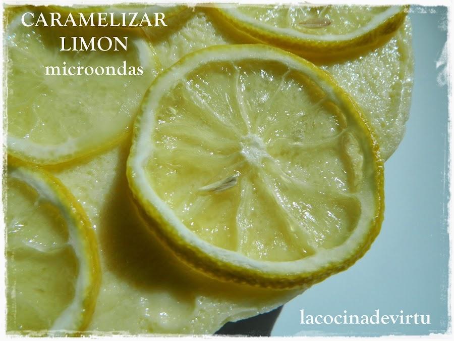 Limones Caramelizados al Microondas