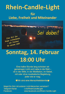 Rhein-Candle-Light am 14.2.2021
