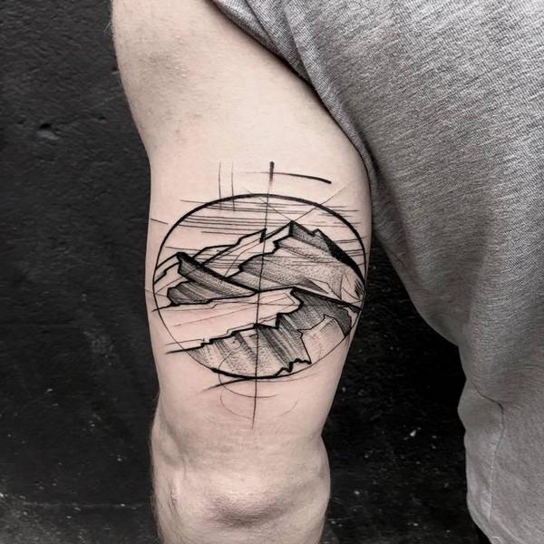 blackwork tattoo nature