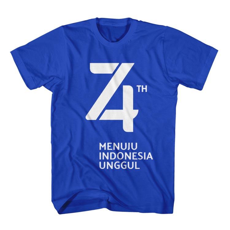 Contoh Desain Kaos HUT RI Ke 74 Memperingati 17 Agustus