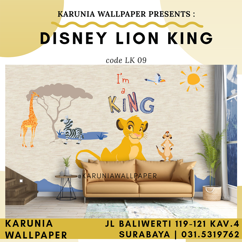 jual wallpaper dinding lion king surabaya