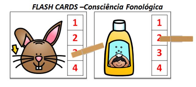 Flash Cards para o trabalho com a consciência fonológica