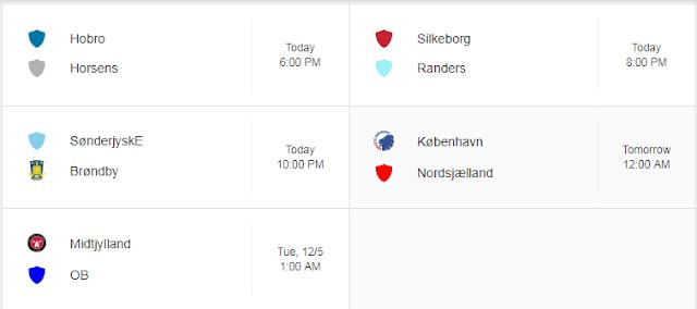 Jadwal Liga Denmark