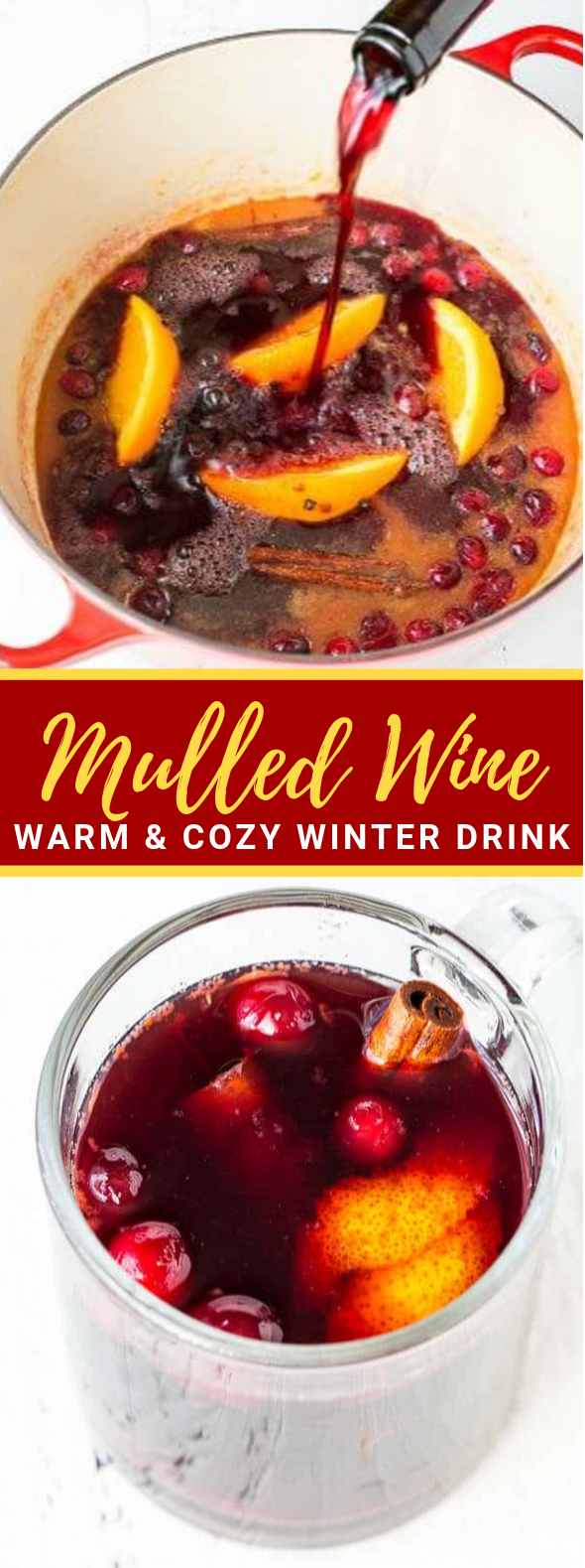 Mulled Wine – Perfect Holiday Party Drink #cocktails #winterdrinks