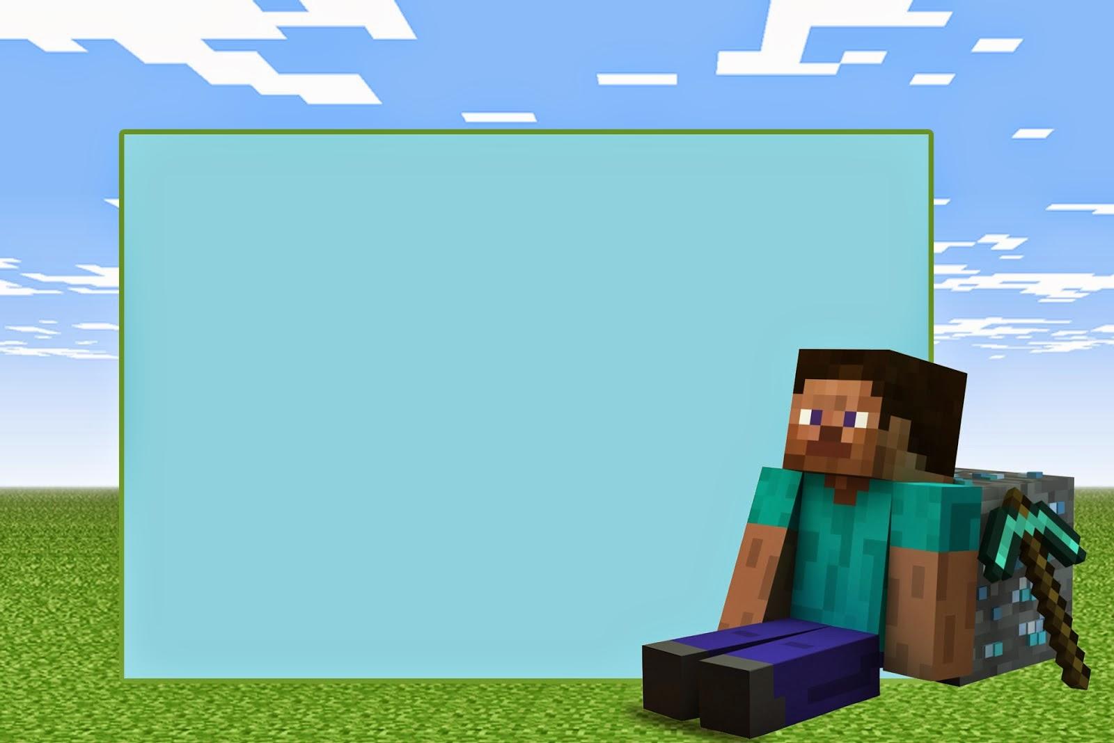 Minecraft Invitaciones Para Imprimir Gratis Ideas Y