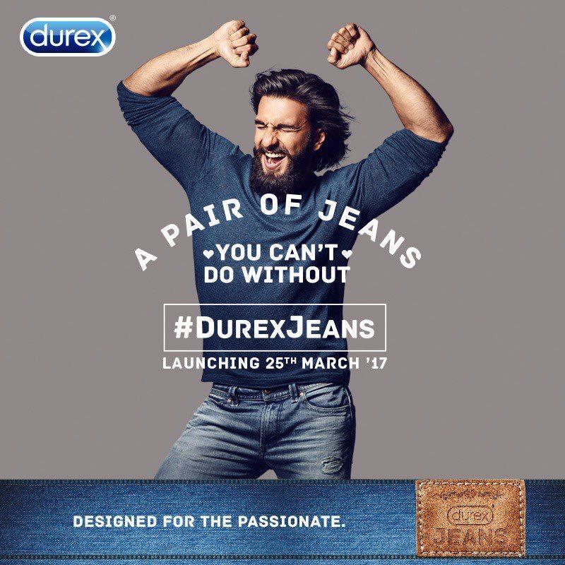 Durex Jeans | Ranveer singh | Print Ads