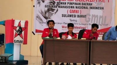 Laksanakan Konferda I, Baharuddin Bayu Ditetapkan Sebagai Ketua DPD GMNI Sulbar Secara Aklamasi
