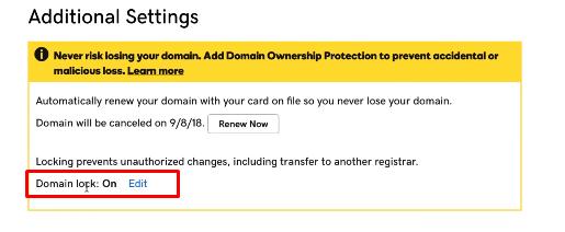Unlock Your GoDaddy Domain