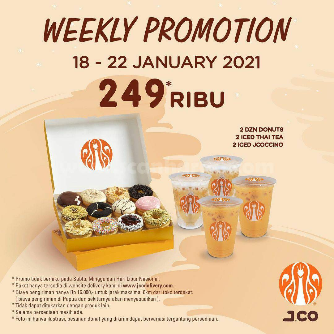 JCO Weekly Promotion - BELI 2 lusin donuts hanya Rp 249 Ribu