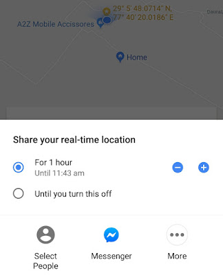 Share real-time location on Google Maps
