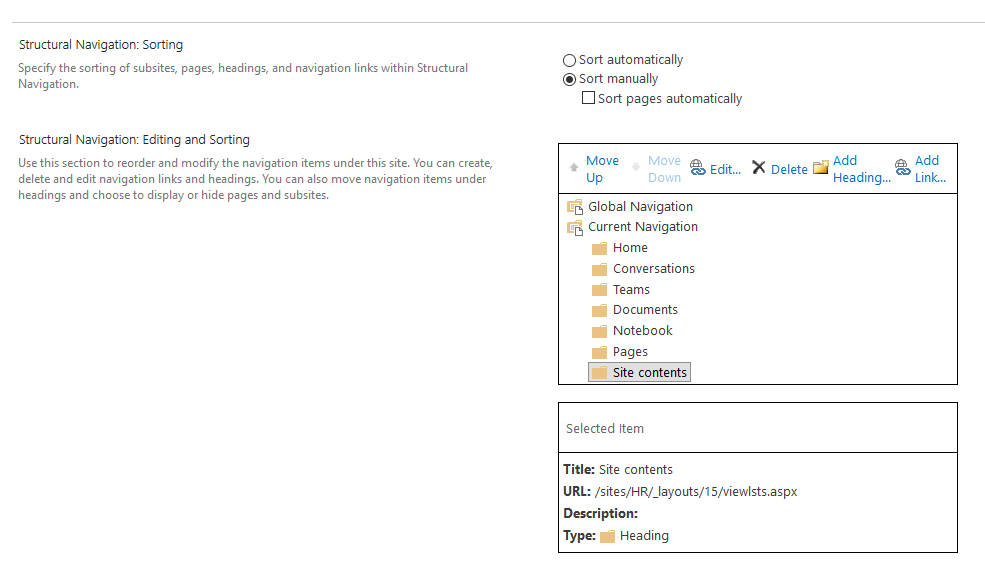 sharepoint online remove recycle bin from quick launch