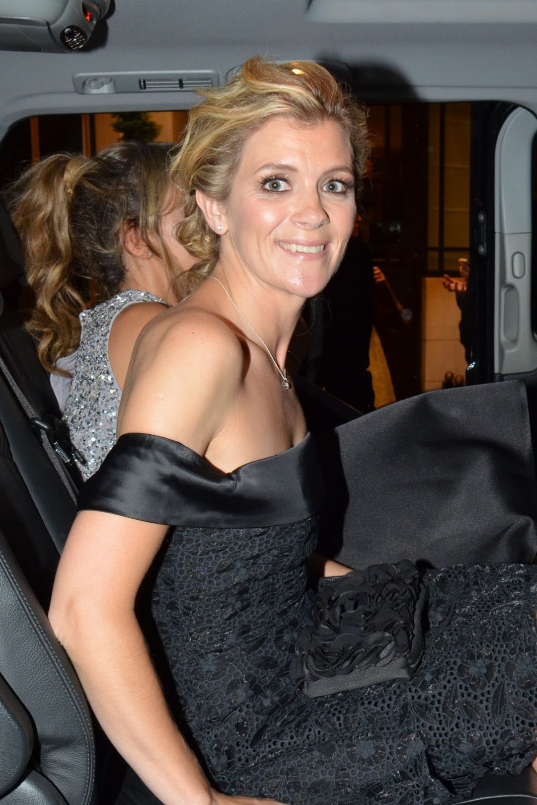 Photos of Jane Danson And Samia Ghadie Leaves Dorchester Hotel In London