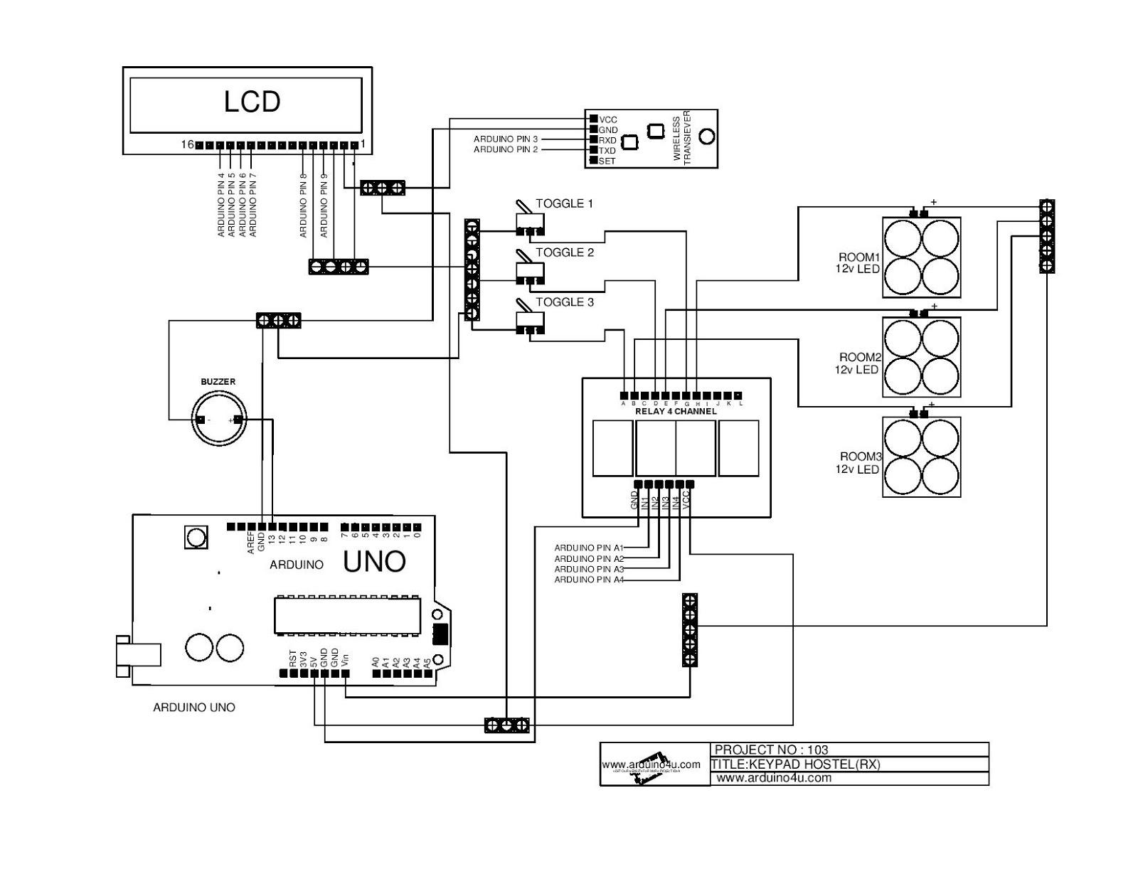 Projek Elektronik Arduino4u 103 Keypad Hostel