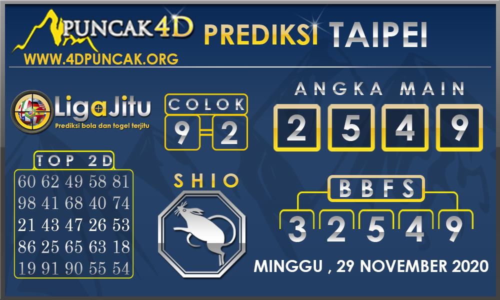 PREDIKSI TOGEL TAIPEI PUNCAK4D 29 NOVEMBER 2020