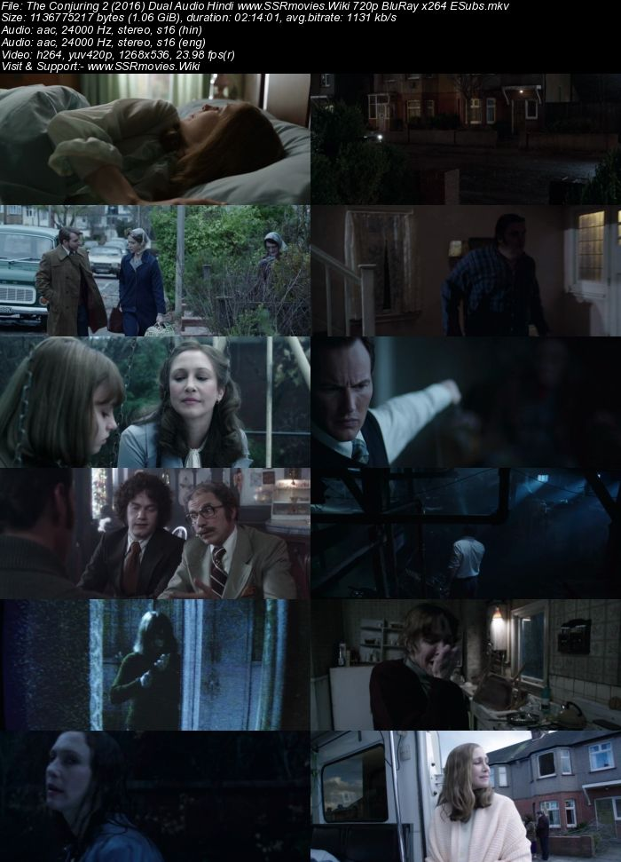The Conjuring 2 (2016) Hindi 480p 720p BluRay Dual Audio - Film4me