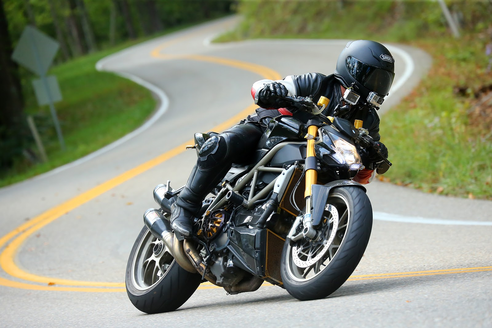 Tigh Loughhead rides the Tail of the Dragon North Carolina on his Ducati Motorcycle