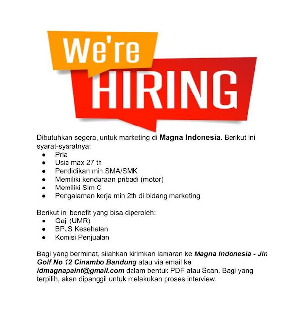 Loker Marketing Magna Indonesia