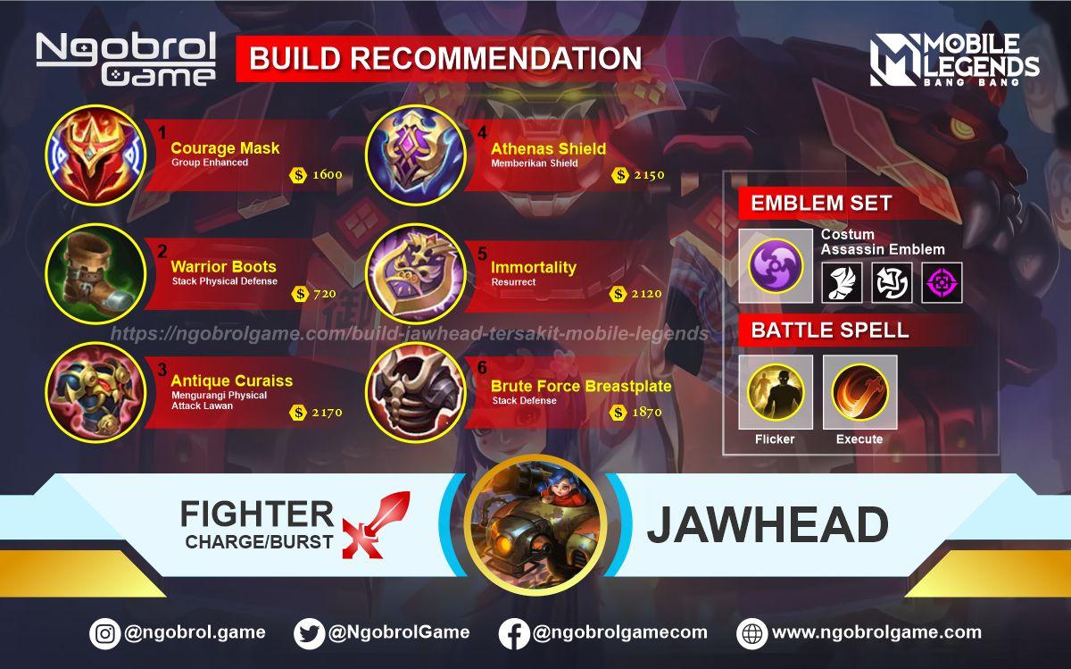 Build Jawhead Tersakit 2021 Mobile Legends