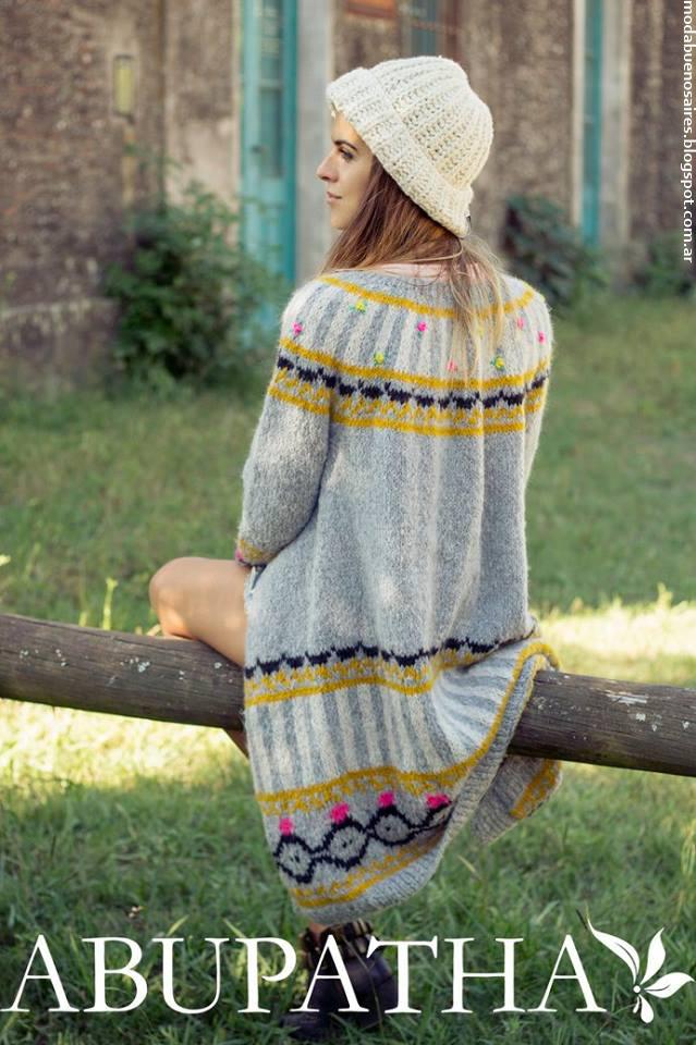 Sacos tejidos invierno 2016 ropa de mujer tejidos Abupatha.