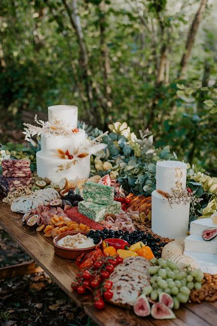 Rustic wedding grazing table