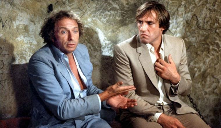 Pierre Richard und Gerard Depardieu in DER HORNOCHSE UND SEIN ZUGPFERD (1981). Quelle: Gaumont International
