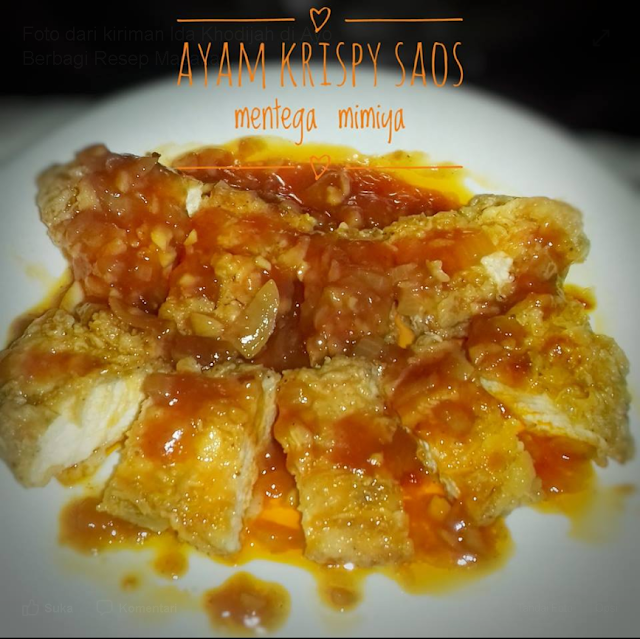 Resep dan Cara Membuat Ayam Crispy Saos Mentega Resep Masakan Ayam Crispy Saos Mentega By Ida Khodijah