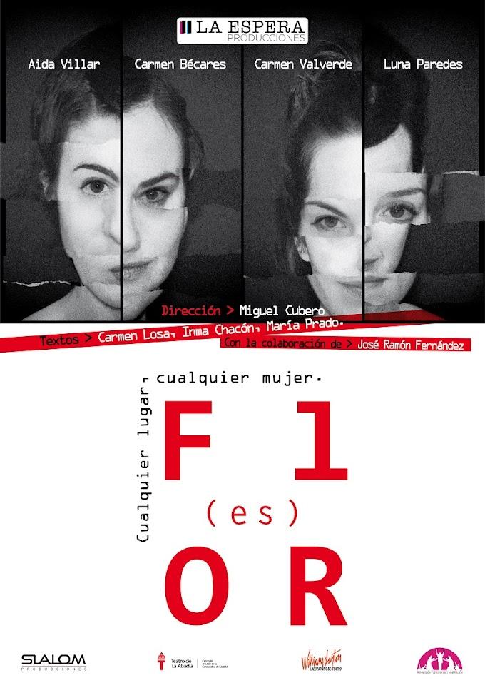 """Teatro: """"Flor(es) cualquier lugar, cualquier mujer"""" en Conde Duque y Nave 73"""