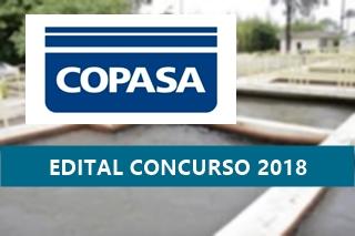 Concurso da COPASA 2018: Edital com 82 vagas