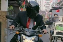 Mengendarai Motor, Jokowi Datang Ke Pembukaan Asian Games