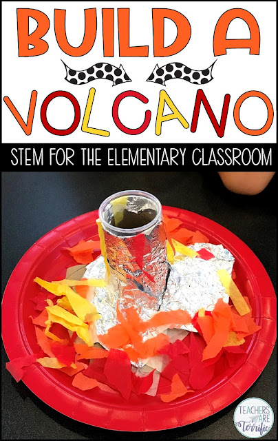 """Volcano STEM Challenge- Students build a model after """"purchasing"""" materials and then test it with a chemical reaction! The budget adds math and decision making to the challenge!"""