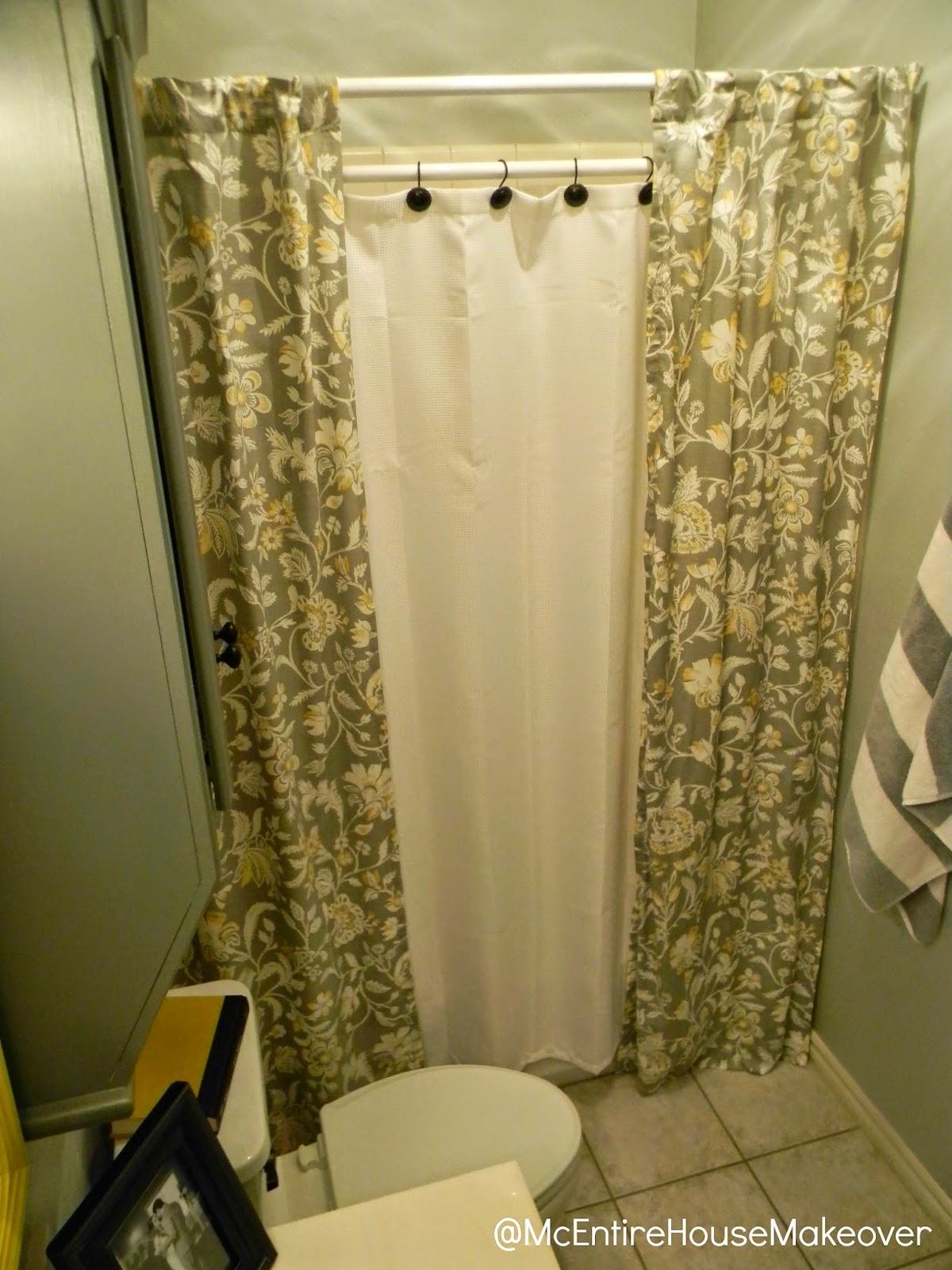 McEntire House Makeover: Making 2 Shower Curtain Panels ...