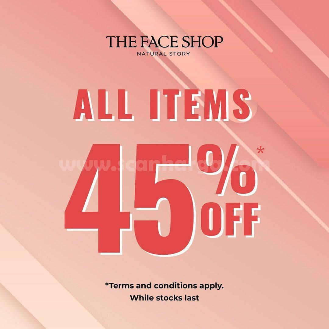 Promo The Face Shop Diskon 45% All Item