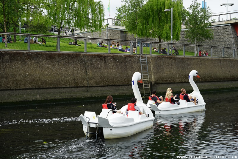 Pedal boats at London Olympic Stadium