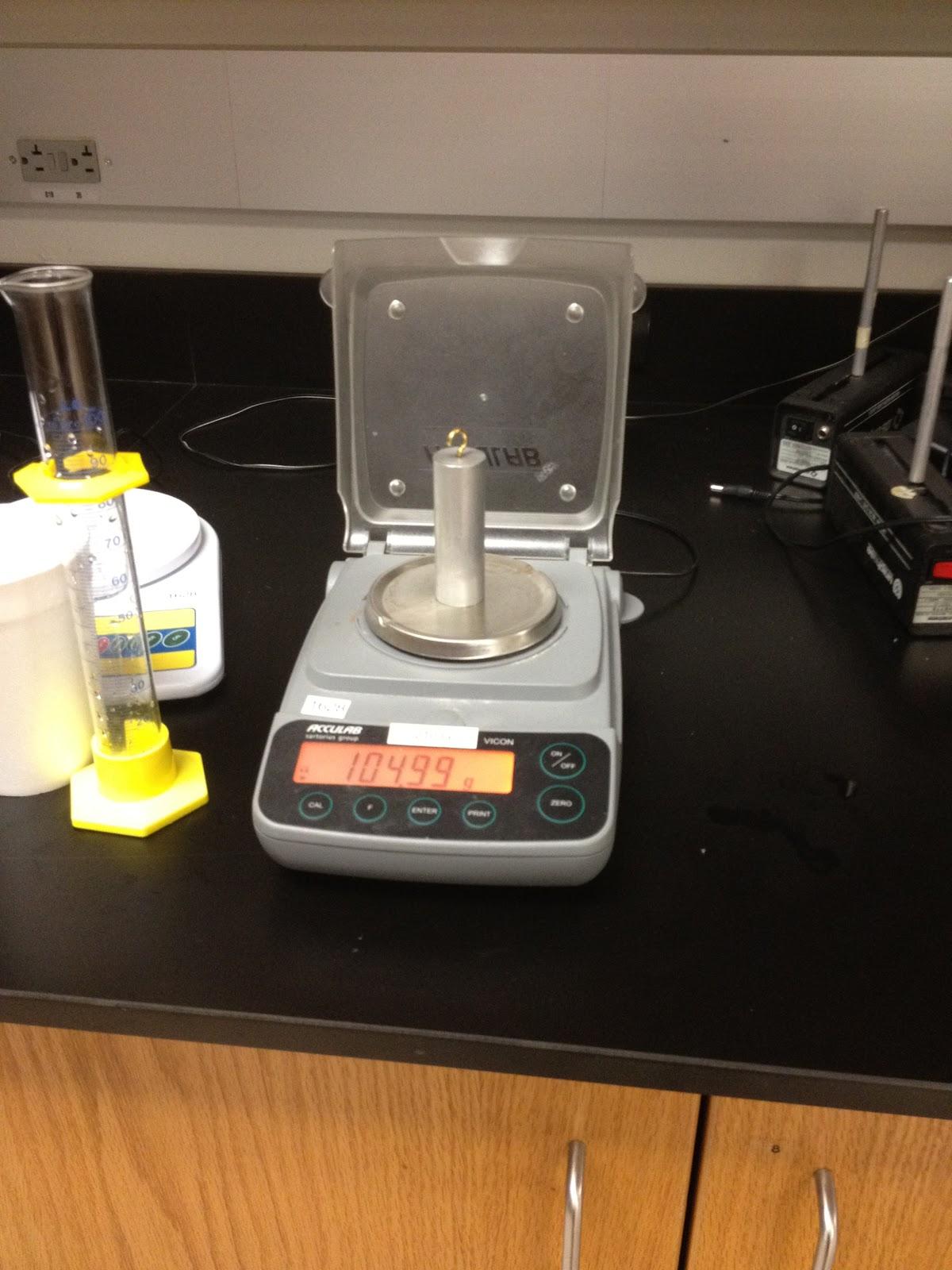 Experiment 1 Fluid Statics Fluid Statics Calculating The Buoyant Force