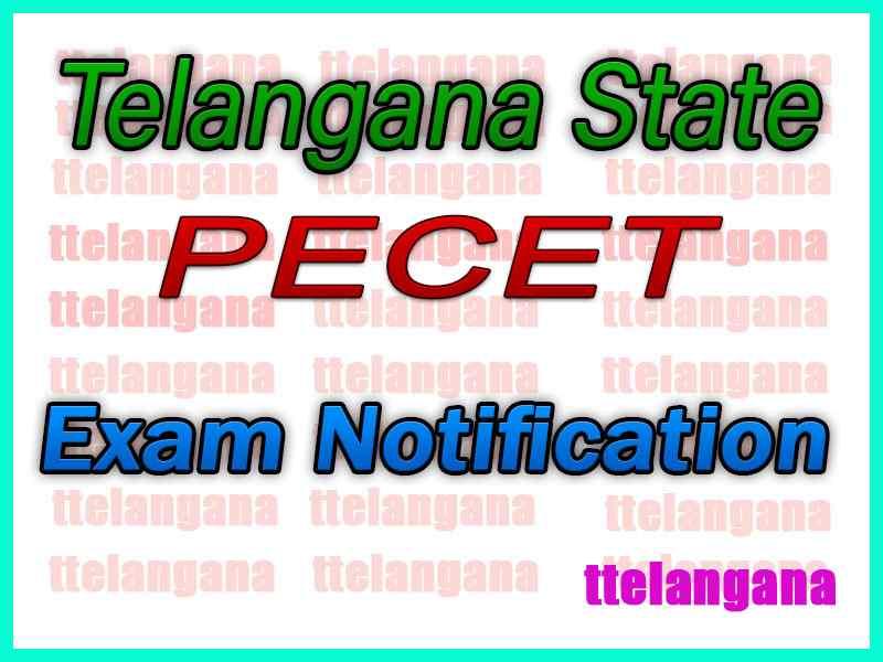 Telangana  PECET Notification TSPECET  Notification