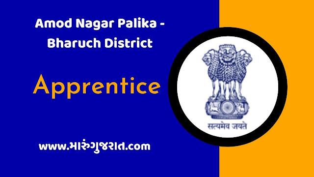 Amod Nagarpalika Apprentice Recruitment 2021