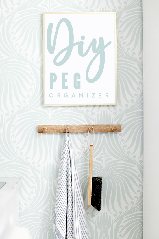 IHeart Organizing DIY Wood Peg Rail Organizer