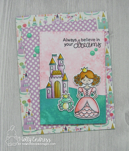 Princess Card by Holly Endress | Once Upon a Princess stamp set by Newton's Nook Designs #newtonsnook #princess #handmade