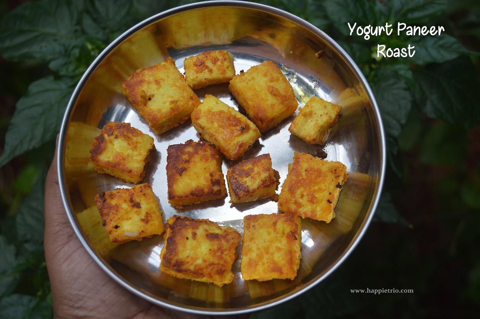 Yogurt Paneer Roast Recipe | Easy Paneer Roast Recipe