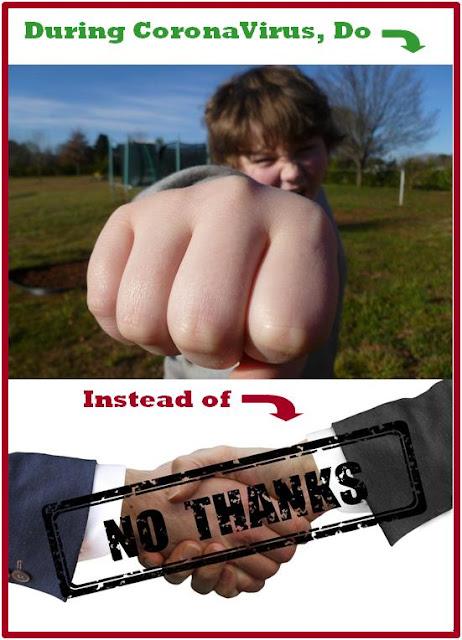 During coronavirus, fist bump instead of handshake