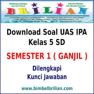 Download Soal UAS IPA Kelas 5 SD Semester 1 (Ganjil) Dan Kunci Jawabannya