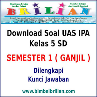 Kali ini Admin ingin membagikan Download Soal UAS IPA Kelas  Download Soal UAS IPA Kelas 5 SD Semester 1 (Ganjil) Dan Kunci Jawabannya