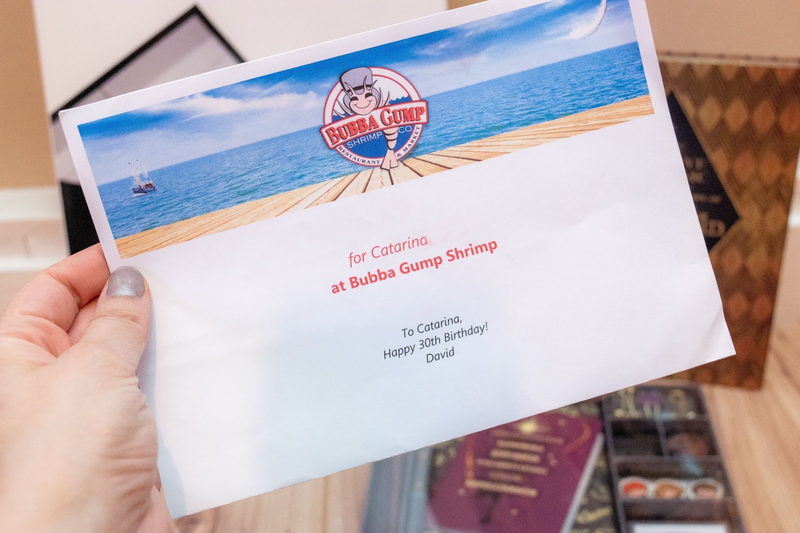 A voucher for Bubba Gump restaurant in London