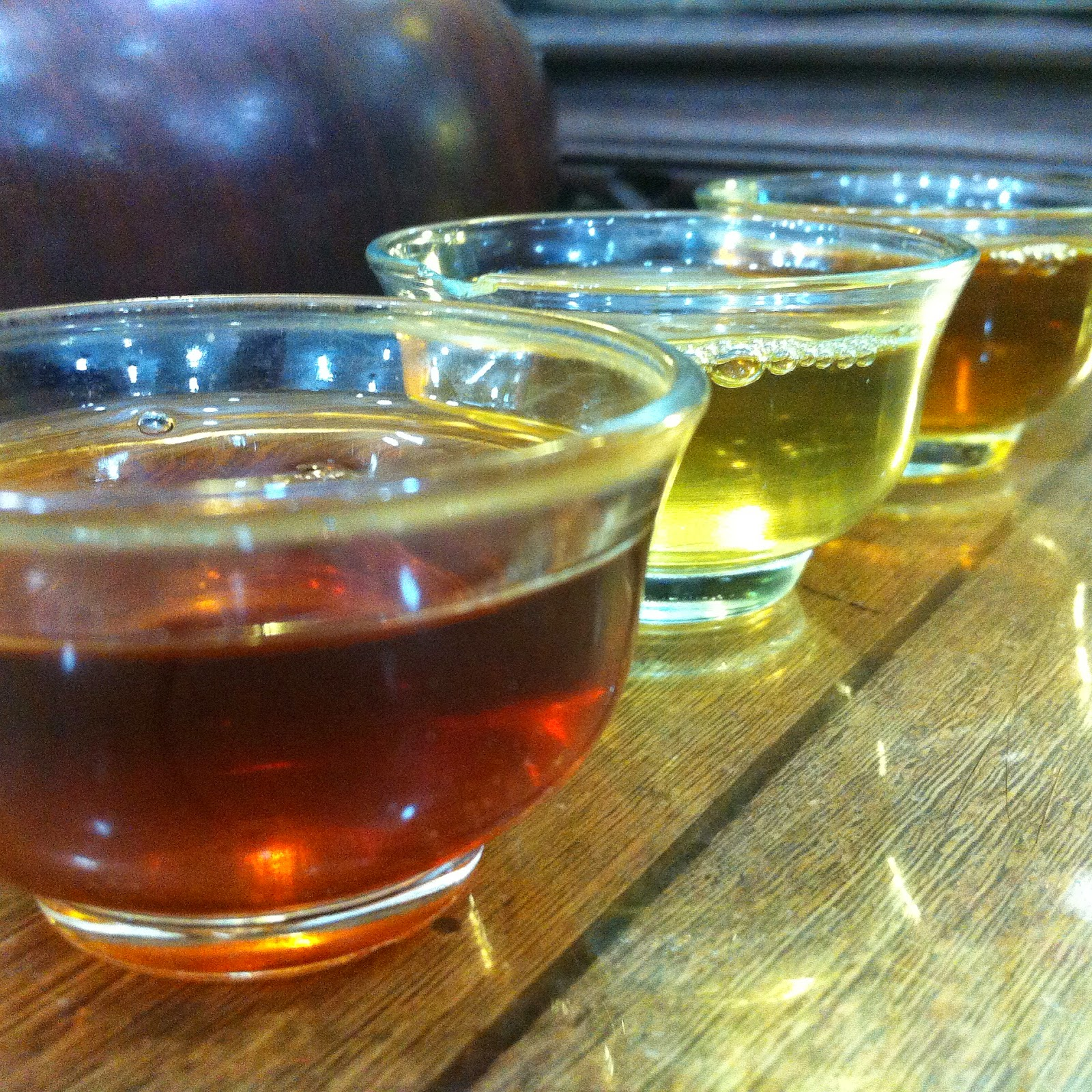 Tea for a tea tasting in Kunming