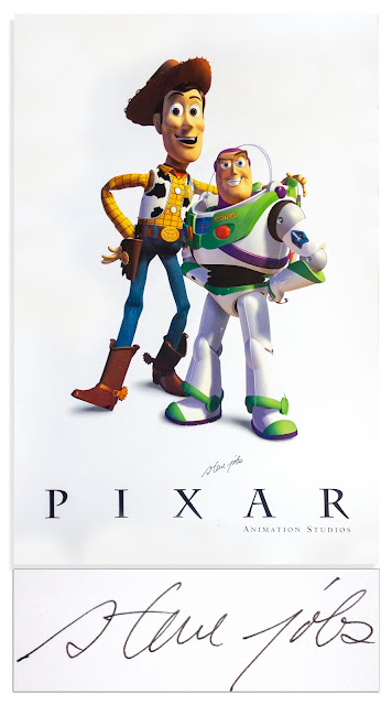 Toy Story Signed Poster by Steve Jobs