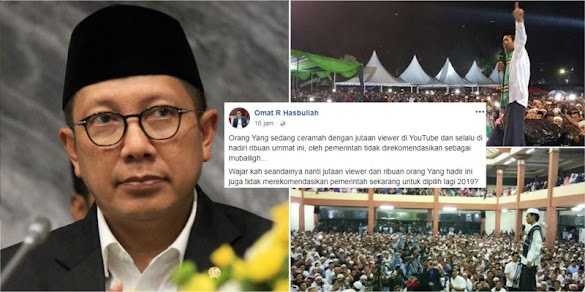 Ustadz Somad Tak Masuk Daftar Kemenag, Komentar Netizen Ini Menjadi Viral di FB