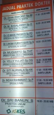 Jadwal Dokter Omnia Purwokerto - Seo Satria