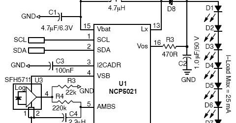 diagram ingram: High Voltage White LED Driver